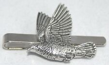 Wood Pigeon Tie Clip (slide) in Fine English Pewter, Gift Boxed, Bird