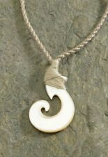 NEW Hawaiian Hawaii Jewelry Mother of Pearl Carving Necklace # 9875201000