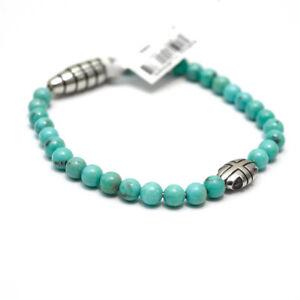 New DAVID YURMAN Men's 5mm Southwest Turquoise Bead Bracelet Small