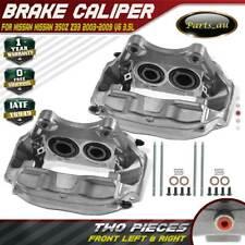 2x Brake Calipers w/ 4-Piston Front LH + RH for Nissan 350Z Z33 2003-2009 3.5L