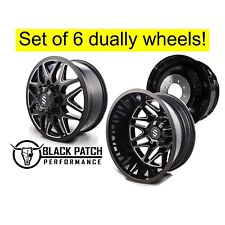 "20"" 8x200 Revolt Dually Wheels Gloss Black and Milled 20x8.25 Set Of 6 20"