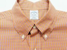 BROOKS BROTHERS SLIM FIT Btn-Down Gingham Check Woven Long Sleeve Shirt M