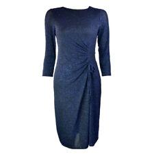 EX.DEBENHAMS BLUE SEQUINED RUCHED DRESS Sizes 8 - 26