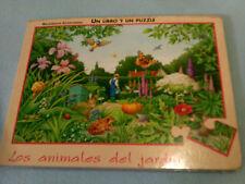 LIBRO PUZZLE LOS ANIMALES DEL JARDIN