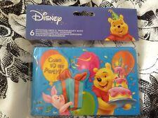 Winnie the Pooh 6 x  party invites and envelopes BNIB s