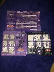 3 Different Reading Royals Magnet Schedules