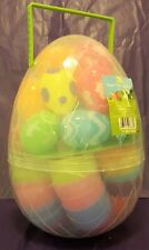 Fresh Decor 40 Decorated & Colored Plastic Easter Eggs in Egg Case w/Handle ~NEW