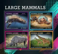 Sierra Leone - 2019 Large Mammals - 4 Stamp Sheet - SRL190504a