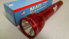 Maglite S3D035 Heavy Duty 3 Cell D Flashlight Boxed Red Logoed Milwaukee Krypton