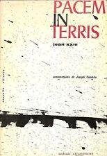 """PAPE JEAN XXIII ENCYCLIQUE """" PACEM IN TERRIS """" LIVRE RELIGION 1963"""