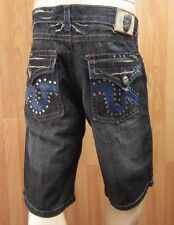 NEW LAGUNA BEACH DENIM SHORTS MEN SIZE 36 EMBELLISHED STONES & RIVETS VIC-THOR1