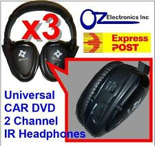 3x Headphones wireless car DVD Toyota Prado Landcruiser Klugar Camery Torago NEW