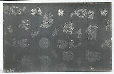 BM378 Carte Photo vintage card RPPC Indochine détail dessins peinture tapisserie