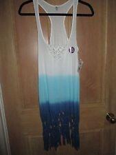 NEW* RIP CURL SURF Sz M Mini Dress Bikini Cover Up $45 Retail Take A Dip Blue