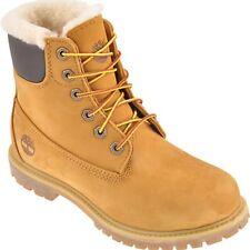 Timberland A19TE Damen 6-Inch Premium Shearlin/Lammf Waterproof Boot Nubuk Wheat