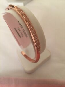 Kate Spade Raise the bar Pave Bangle Rose Gold Brand New in pouch