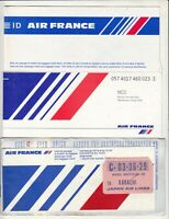 OLD AIR FRANCE AIRLINES LOT OF 3 DIFFERENT PASSENGER TICKET  AND BAGGAGE LOT Z.
