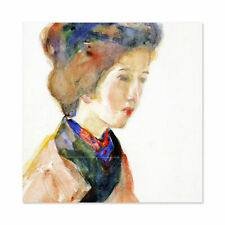 Takehisa Girl Japanese Painting Wall Art Canvas Print 24X24 In