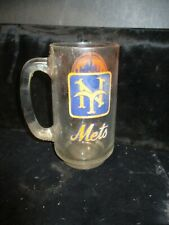 "VINTAGE 1969 NEW YORK METS WORLD CHAMPIONS 5.5"" TALL GLASS MUG"