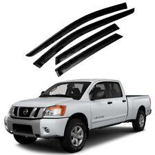For 2004-2015 Nissan Titan 4pcs Smoke Window Sun Rain Visors Wind Guard Crew Cab (Fits: Nissan)