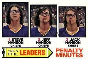 Slap Shot Hanson Brothers Penalty Minute Leaders Federal League 8 X 12 Photo