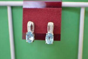 2.00ct Marambaia Topaz / Zircon Dangle Earrings Platinum over Fine Silver VVS