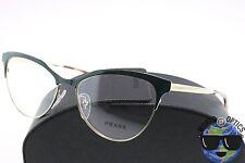 Prada RX Eyeglasses VPR 55S UEZ-1O1 Dark Green/Gold/Havana Metal [54-16-140]