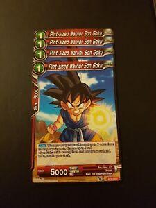 4x Pint-Sized Warrior Son Goku Dragon Ball Super Card Game