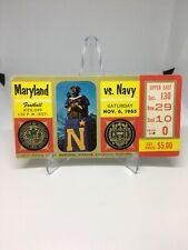 Maryland vs. Navy ticket stub Nov 6, 1965! original, vintage & Clean!