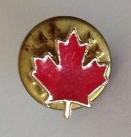 Canada Maple Leaf Tiny Pin Badge Rare Vintage Souvenir (G7)