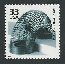 SPECIAL! Slinky Craze Begins in 1945 Commemorative US Postage Stamp - MINT NH!