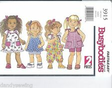 Butterick Sewing Pattern 3915 Toddler Dress Top Shorts and Pants Sizes 1-2-3