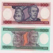 100,200,500,1,000 Cruzeiros Banco Brazil Banknotes--Pristine Condition  !!