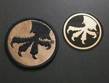 Microtech Claw Patch & Sticker   Beige & Black  Swag