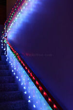 600 LED Multi Colour Net Lights w/Stars Waterfall Functions & Memory 20M X 0.4M