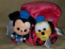 DISNEY PARKS AUTHENTIC ORIGINAL MICKEY & PLUTO TRAIN PLUSH TOY NEW WITH TAGS