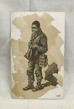 Great Orig. Victorian Trade Card Bush's Liquid Beef Black Americana Boston MA