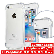 AntiScratch Shockproof Bumber Gel Case For iPhone 11 5S 6 7/8 Plus  X XR XS-MAS