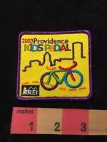 2003 Providence Rainbow Colors BICYCLE Kid's Pedal Bike Patch 87N5