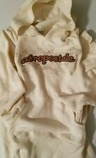 Aeropostale White Cream Brown Size Large Front pocket Pull over