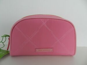 Vera Bradley Preppy Poly Small Cosmetic Bag Case in Blossom Pink NWT