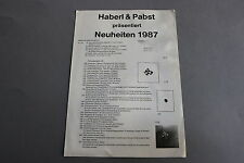 X104 HABER & PABST Train depliant 1987 4 pages 29,7*21 cm Dutch catalog diorama
