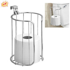 InterDesign Paper Holder 2 Roll Toilet Classico Bathroom Storage Steel Chrome