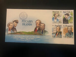 Pitcairn Islands 2002, FDC, Pitcairn Islands Celebrities, Excellent Condition