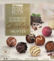 VALUE 2 PACK Moser Roth Luxurious European Chocolate Truffles Candy 16 pc ea