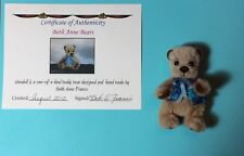 One of a Kind bear Wendell by Beth Anne Franco - Exceptionally Cute! 3""