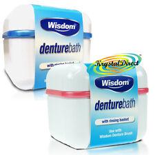2x Wisdom Denture Bath Rinsing Basket Bowl Dental Storage Box Container Case
