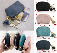 New Women's PU Leather Mini Wallet Card Key Holder Zip Coin Purse Clutch Bag