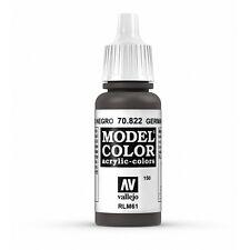 Vallejo Model Color: German Cam Black Brown - VAL70822 Acrylic Paint 17ml 150