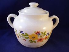 JMP Bake Serve 'n Store Stoneware Sweet Flowers Bean Pot Cookie Jar Retro Japan